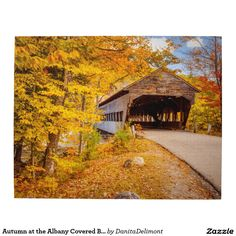 Autumn at the Albany Covered Bridge Jigsaw Puzzle