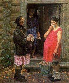 1971 СОЛДАТКИ by Soviet Artists Brothers: Sergei Petrovich Tkachev (b1925) & Aleksei Petrovich Tkachev (b1925) were born in Chugunovka Village, Bryansk Region, USSR
