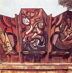 Cultural Polyforum - David Alfaro Siqueiros Clemente Orozco, Social Realism, David, Mexican Artists, Art Database, We Can Do It, Design Art, Graffiti, Painting