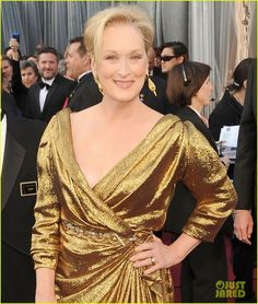 Meryl Streep 2012 Oscars in Lanvin. The 62-year-old actress finished her look with a Lanvin clutch, antique Fred Leighton earrings, and Ferragamo shoes.  Nominated for best actress Iron Lady  Outfits modeled by Women over 45 http://stillblondeafteralltheseyears.com/category/outfits-modeled-women-over-45/