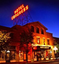 Hotel Congress, Tucson John Dillinger was captured here in the 1930's, I will be touring it!!! Vacation December 2012