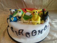 Torta Pokemon con Snivy, Oshawott, Tepig e Pikachu - Pokemon cake with Snivy, Oshawott, Tepig and Pikachu   by Fancy Food and Cakes