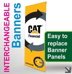 We offer printed interchangeable #Banners printed single sided on heavy weight PVC and come complete with a self-standing mechanism.