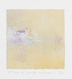 "May 11, 2018 9 cm x 9 cm (app. 4"" x 4"") oil on canvas © 2018 Hiroshi Matsumoto www.hiroshimatsumoto.com"