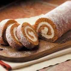 Favorite Pumpkin Cake Roll Recipe from Taste of Home