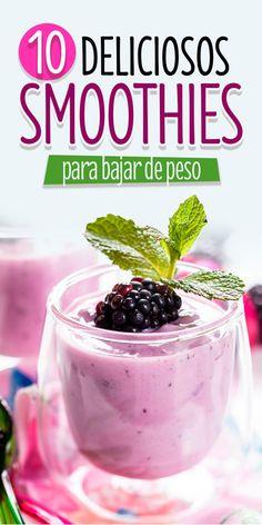 10 Smoothies para bajar de peso. Healthy life. healthy food. hacks para bajar de peso. Smoothie de sarsamora