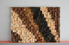 Rústico madera de la pared arte reclamado leña madera por GBandWood