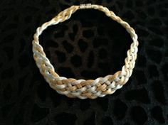 Gold & Silver Braided Necklace for sale at Glamhairus.com