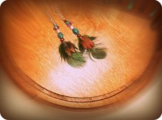 Feather and Bead earrings  (Oo La La Collection)