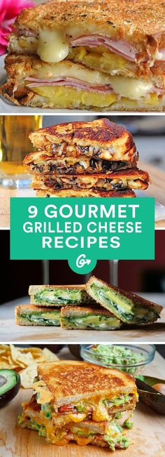 Grilled Sandwich recipes - 9 Gourmet Grilled Cheese Recipes That Are Totally Easy to Make. Grilled Sandwich, Soup And Sandwich, Gourmet Sandwiches, Sandwich Recipes, I Love Food, Good Food, Yummy Food, Gourmet Festival, Tostadas