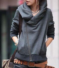 I love this neckline. I love sweatshirts that look nicer than sweatshirts