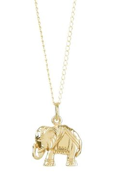 Good Luck Elephant Charm Necklace by Charming Summer Jewelry on @HauteLook