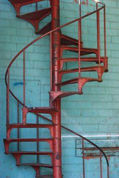 Red Stairs (Tulsa, Oklahoma) photo by Farrah Jones