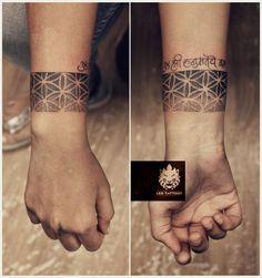 #Dotwork #armband #mantra #god #religious #wrist #calligraphy #custom #design…