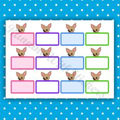 Chihuahua Half Box Mult Colored Planner by RunningwithStickers