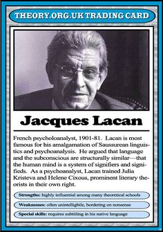 Jacques Lacan - Theory.org.uk trading cards