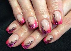 Pink Scroll Nail Art Design Idea Haley Van Diest Nails