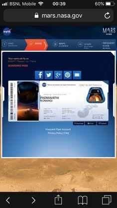 Pin By Padmavathi Konangi On Nasa Space Boarding Pass Pinterest