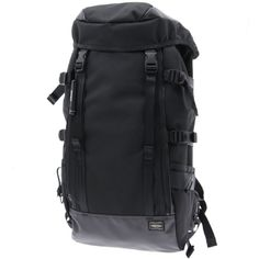 Porter Heat Rucksack. Ref : 703-06301. Size W280/H540/D180. Color : Black. Main Fabric: Ballistic Nylon Canvas ( Nylon 100 %). Bottom of the bag : Tarpouline Lining Fabric: Nylon Canvas ( Nylon 100% ). Additional: Each bag comes with a porter orifinal Maglight as a zip puller.