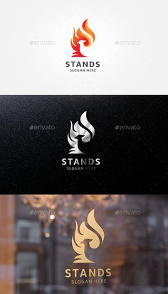 Stands Logo Template — Vector EPS #flame #wings • Available here → https://graphicriver.net/item/stands-logo-template/19191306?ref=pxcr