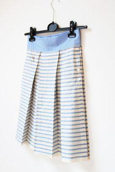Modrobílá skládaná sukně / Skirt