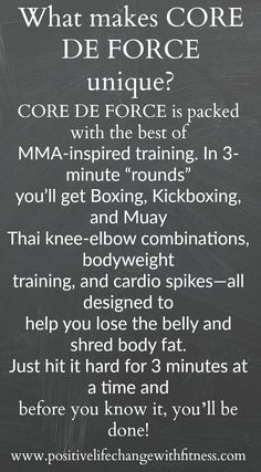 Why is Core De Force Unique?! #mma #boxing #kickboxing #mauy #bodyweight #athomeworkout #coredeforce #bodyfat #bellyfat