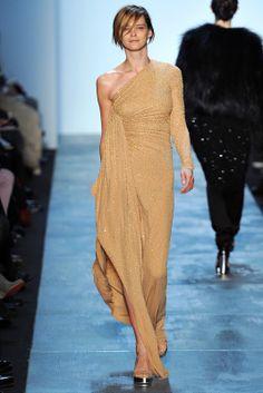 Tan embellished dress. Michael Kors, Fall 2011.