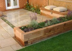 Small Patio Design Ideas With Design Beautiful With Small Garden . Small Garden Design, Patio Design, Rectangle Garden Design, Backyard Designs, Small Garden Features, Small Garden Uk, Small Garden Borders, Small Garden On A Budget, Small Garden Layout