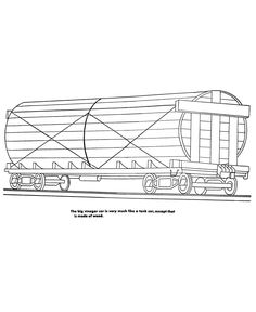 Freight Train And Railroad Coloring Pages