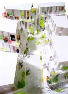 Physical model of Sarugaku commercial district by Akihisa Hirata #architecture