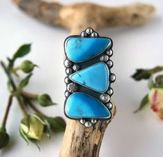 Collecting the Sky - Turquoise Sterling Silver Ring