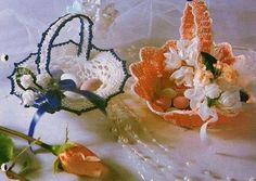 corbeille blanche et orange