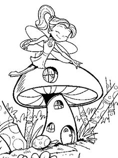 Free Coloring Pages: Fairies