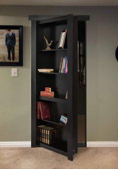 Gallery – Murphy Door, Inc. Hidden Door Bookcase, Bookshelves, Murphy Door, Hidden Rooms, Secret Rooms, Aesthetic Bedroom, Apartment Design, Home Remodeling, Furniture Design