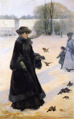 Eugene Clary - Winter Morning in the Tuileries Gardens, Paris