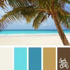 Color inspiration from a warm summer vacation - beachy tones | Click for more color schemes inspired by beautiful landscapes and other coloring inspiration at http://sarahrenaeclark.com | Colour palettes, colour schemes, color therapy, mood board, color hue