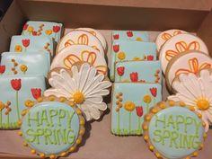 Happy Spring Cookies by @cookiesbykatewi