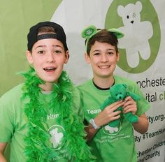 Max and Harvey Mills at Royal Manchester Children's Hospital