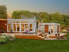 Blu Homes... prefab with rooftop deck.