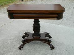 Empire Revival Mahogany Claw Foot Game Table Circa 1900 | eBay