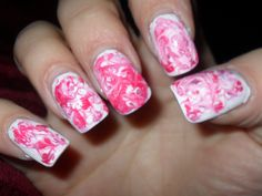 Pink and White Marble #2 by Danielle