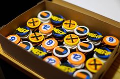 Nerf Gun Birthday Cupcakes - Calvin, Ok. Photography, cake and decor by Carrie Sanders - Every Little Detail - 580.279.5155 email: cmbooking@yahoo.com for availability, cakes and events!