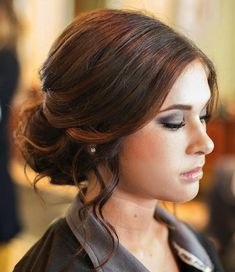 Front View of UpDo for Homecoming, Prom, Wedding - hairstyles - Hochzeitsfrisuren-braided wedding updo-Wedding Hairstyles Prom Hair Updo, Short Hair Updo, Wedding Hairstyles For Long Hair, Hairstyles For School, Formal Hairstyles, Bride Hairstyles, Pretty Hairstyles, French Hairstyles, Hairstyle Wedding
