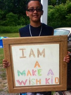 "I am a wish kid.   I went to "" Give Kids the World"" when I was  in 3rd grade :)"