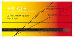 Invitation Solair. [So Art !] #design