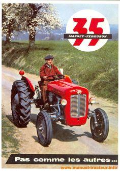 Carte postale tracteur Massey Ferguson MF 35
