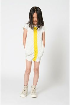 Neon yellow stripe, love it! #designer #kids #fashion