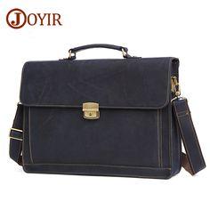 e22d4c5d885 JOYIR Brand Shoulder Bag For Men Genuine Leather Handbag Tote Bag Retro Men  Bags Laptop Briefcase Crossbody Messenger Bag