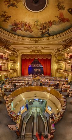 "Theatre/bookshop - ""el Ateneo Bookstore, Buenos Aires""Argentina by Taylor Moore Places Around The World, The Places Youll Go, Places Ive Been, Places To Visit, Around The Worlds, Ushuaia, Libreria El Ateneo, Argentine Buenos Aires, Beautiful World"