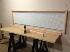 How To Build A Wall-Mounted Folding Workbench | Your Projects@OBN